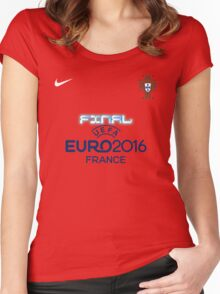 PORTUGAL EURO 2016 FINAL Women's Fitted Scoop T-Shirt
