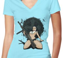 Bride Lord Women's Fitted V-Neck T-Shirt