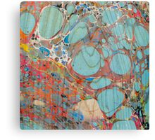 Abstract Painting ; Turquoise Canvas Print