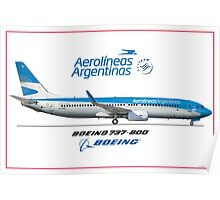 Airlines Collection Boeing 737-800 Poster