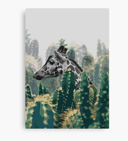 The Cactus Giraffe Canvas Print