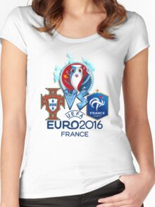 FRANCE VS PORTUGAL EURO 2016 FINAL Women's Fitted Scoop T-Shirt