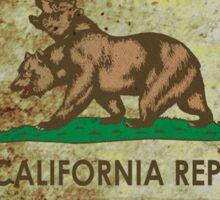 New california republic grunge Sticker