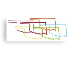oklahoma pride blur Canvas Print