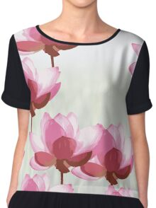 The Eight Little Pink Flowers Chiffon Top