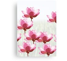 The Eight Little Pink Flowers Canvas Print