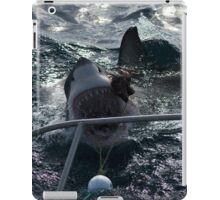 Great White Shark Goes for Bait iPad Case/Skin