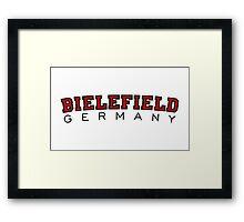 Bielefield Germany Bielefeld Design (Schwarz/Rot) Framed Print