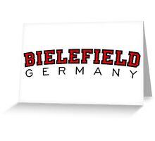 Bielefield Germany Bielefeld Design (Schwarz/Rot) Greeting Card