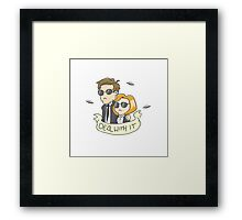 Scully & Mulder Deal With It Framed Print