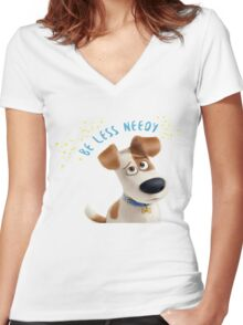 The Secret Life Of Pets I Women's Fitted V-Neck T-Shirt