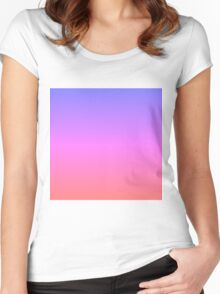 Blue to Red Gradient Women's Fitted Scoop T-Shirt