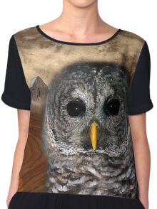 the owl Chiffon Top