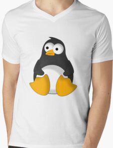Penguin cartoon drawing Mens V-Neck T-Shirt