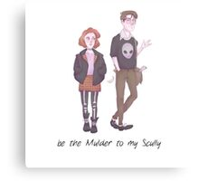 Scully & Mulder FanArt Canvas Print