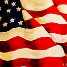 Waving US Flag by Kristi Nobers