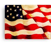 Waving US Flag Canvas Print
