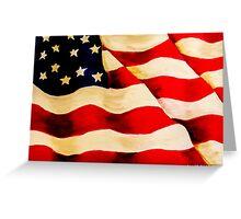 Waving US Flag Greeting Card