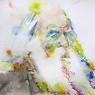 WALT WHITMAN - watercolor portrait.5 by lautir
