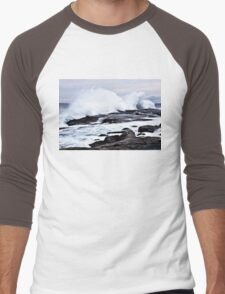 Ferocious Ocean -- Peggy's Cove, Nova Scotia Men's Baseball ¾ T-Shirt