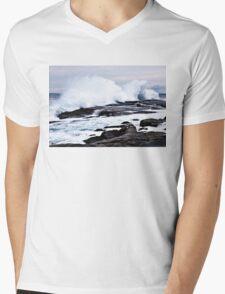 Ferocious Ocean -- Peggy's Cove, Nova Scotia Mens V-Neck T-Shirt
