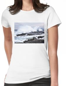 Ferocious Ocean -- Peggy's Cove, Nova Scotia Womens Fitted T-Shirt