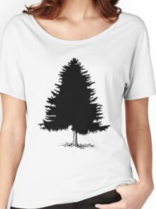 Black Christmas Tree Women's Relaxed Fit T-Shirt