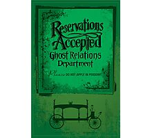 Reservations Accepted design by Topher Adam Photographic Print