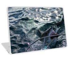 Great White Shark Goes for Bait (2) Laptop Skin