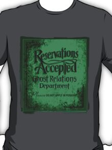 Reservations Accepted design by Topher Adam T-Shirt