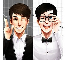 Dan & Phil - Black & White Photographic Print