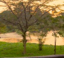 Sunrise on the river Sticker