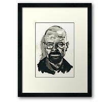 Walter White (aka Heisenberg) of Breaking Bad Framed Print