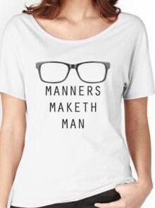Manners Maketh Man - Horizontal Script Women's Relaxed Fit T-Shirt