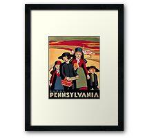 Rural Pennsylvania, Amish Children on a way to school Framed Print