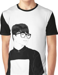BTS Jimin in Glasses - Monochrome Graphic T-Shirt