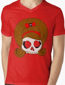 Skully  Mens V-Neck T-Shirt