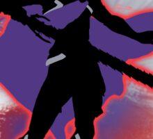 Super Smash Bros. Red Male Corrin Silhouette Sticker