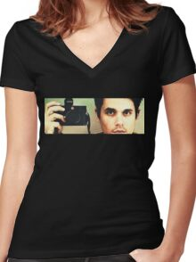 John Mayer: Photographer Women's Fitted V-Neck T-Shirt