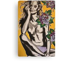 Mischief Among Roses  Canvas Print