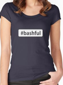 #bashful Women's Fitted Scoop T-Shirt