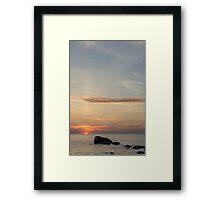 A Magical Sunset Moment at Awenda Beach Framed Print