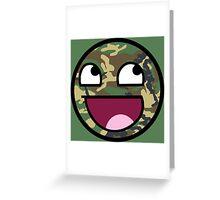 Camo meme face Greeting Card
