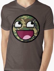 Camo meme face Mens V-Neck T-Shirt