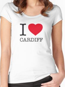 I ♥ CARDIFF Women's Fitted Scoop T-Shirt
