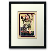 Vintage USA Army Nurse Corps 2 Framed Print