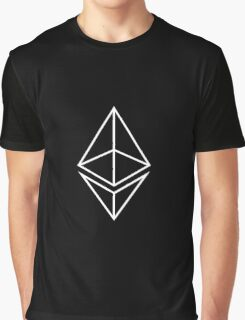 Ethereum logo white / black Graphic T-Shirt