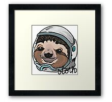 SPACE SLOTH! Framed Print