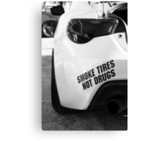 Smoke Tires Canvas Print