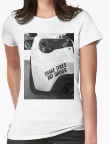 Smoke Tires Womens Fitted T-Shirt